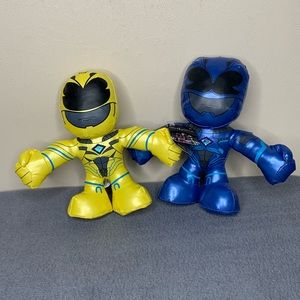 Saban Power Rangers Plush Figurines Yellow & Blue